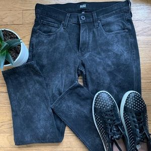 Paige Lennox Jeans In Smoke Mineral Wash